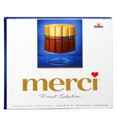 фото: Конфеты Merci 4 вида молочного шоколада 250г