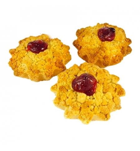 фото: Печенье Русское Печенье Корзиночка с творожно-вишневой начинкой 1,4кг