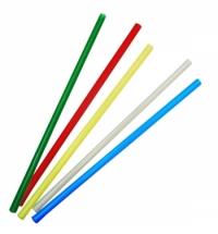 Трубочки для коктейлей Артпласт цветные без изгиба, d 0.5см, 21см, 250шт/уп