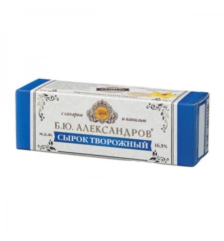 фото: Сырок творожный Б.ю. Александров с сахаром и ванилью 16.5%, 40г х 3шт