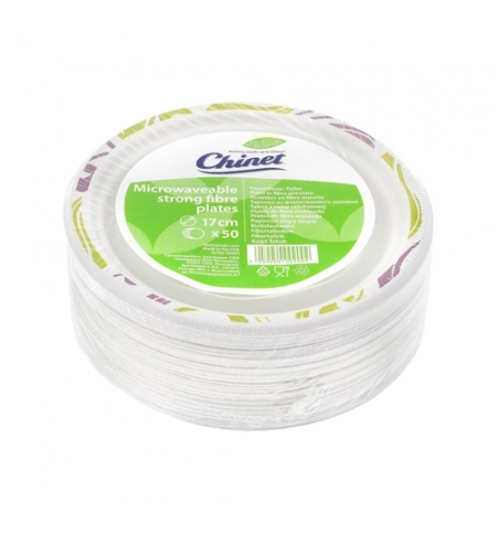 фото: Тарелка одноразовая Huhtamaki Chinet Flavour d 17мм белая, 50шт/уп