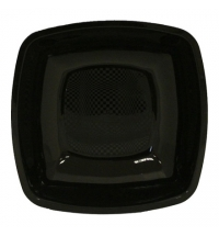 Тарелка одноразовая Horeca черная 18х18см, 6шт/уп