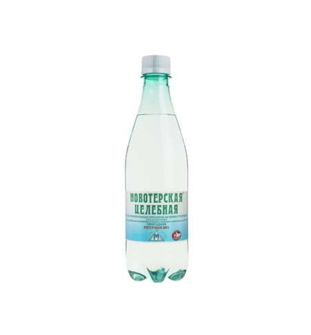 фото: Новотерская минеральная вода 0,5 л газированная, ПЭТ
