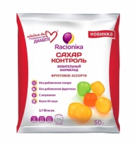 Мармелад Racionika Сахар контроль фруктовое ассорти 50г