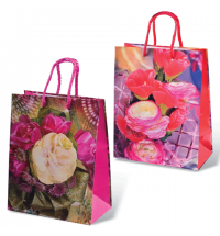 Пакет подарочный Grandgift Цветы 18х23см, ламинированный, ассорти
