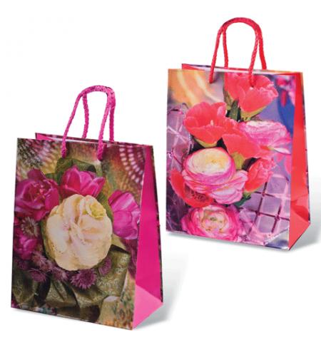 фото: Пакет подарочный Grandgift Цветы 18х23см, ламинированный, ассорти