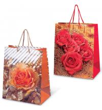 Пакет подарочный Grandgift цветы 26х32см, ламинированный, 7486