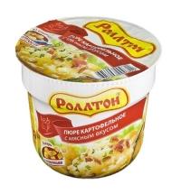 Картофельное пюре быстрого приготовления Роллтон с мясным вкусом 40г, с сухариками
