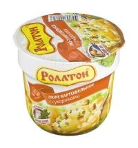 Картофельное пюре быстрого приготовления Роллтон с сухариками 40г
