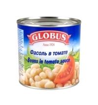 Фасоль Globus белая в томате 440г