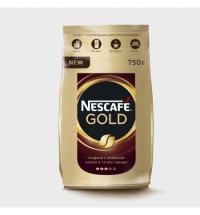 Кофе растворимый Nescafe Gold 750г пачка