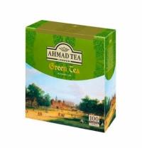 Чай Ahmad Green Tea (Зеленый Чай) зеленый, 100 пакетиков