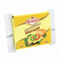 Сыр плавленый President Мастер Бутерброда 40% 150г, маасдам