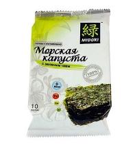 Чипсы Мидори из морской капусты с зеленым чаем 5г