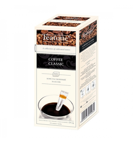 фото: Кофе порционный Teatone Coffee Classic 15шт х 1.6г растворимый, коробка