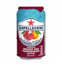 Напиток газированный Sanpellegrino гранат-апельсин 330мл, ж/б