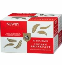 Чай Newby Indian Breakfast (Индиан брэкфаст) черный, 50 пакетиков