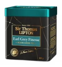 Чай Lipton Sir Thomas Earl Grey Finesse черный, листовой, 100г