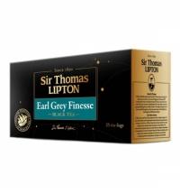 Чай Lipton Sir Thomas Earl Grey Finesse черный, 25 пакетиков