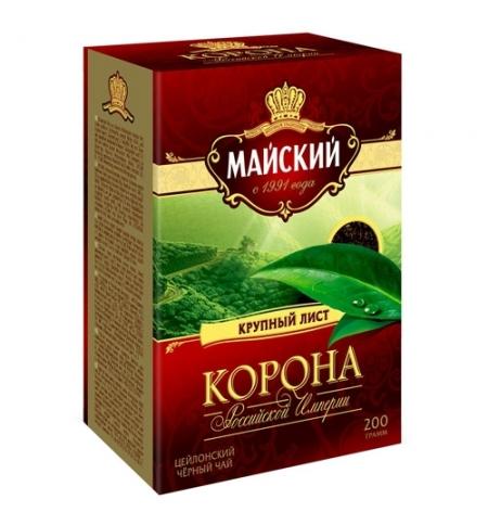 фото: Чай Корона Российской Империи черный, листовой, 200г