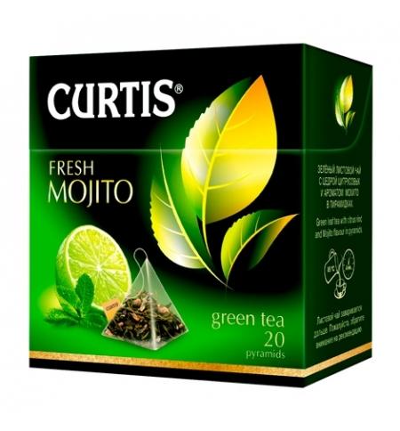 фото: Чай Curtis Fresh Mojito (Фреш Мохито) зеленый, в пирамидках, 20 пакетиков