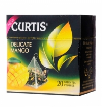 Чай Curtis Delicate Mango (Нежный Манго) зеленый, в пирамидках, 20 пакетиков
