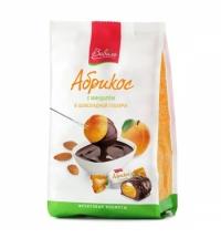 Конфеты фасованные Виваль абрикос с миндалем в шоколадной глазури 180г