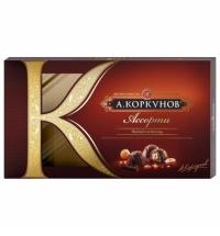 Конфеты Коркунов ассорти в темном шоколаде 192г