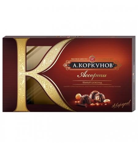 фото: Конфеты Коркунов ассорти в темном шоколаде 192г