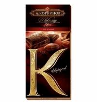 Шоколад Коркунов горький классический 90г, 70%