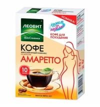 Кофе порционный Леовит Худеем За Неделю для похудения, жиросжигающий комплекс, со вкусом 'Амаретто',