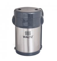 Термос пищевой Waltz 2л, нержавеющая сталь, + ложка, вилка, 3 контейнера