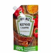 Кетчуп Heinz с карри для колбасок, 350г, пакет