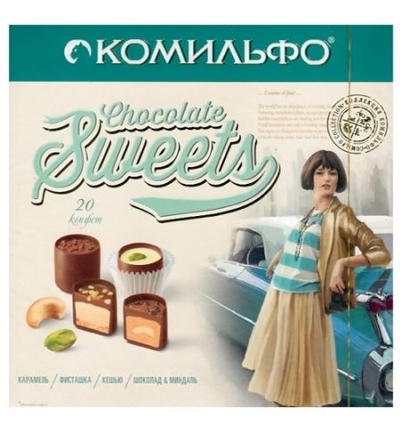 фото: Конфеты Комильфо ассорти ореховое в карамельном пралине, 232г