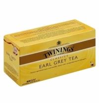Чай Twinings Earl Grey, черный, 25 пакетиков