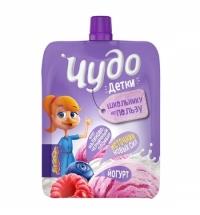 Йогурт питьевой Чудо-Детки малиново-черничный пломбир, 2.7%, 85г