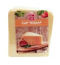 Сыр твердый Fine Life Чеддер 50%, 500г