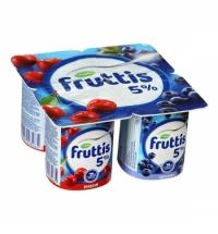 Йогурт Fruttis Сливочное лакомство вишня-черника, 5%, 115г