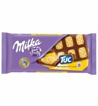 Шоколад Milka Tuc сэндвич, с соленым крекером, 87г