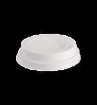 Крышка для одноразовых стаканов Lavazza без носика на 270мл, белая, 100шт/уп