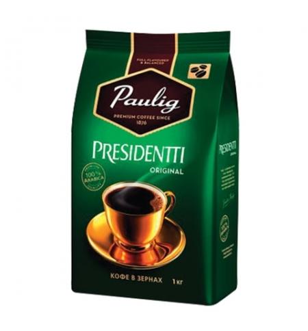 фото: Кофе в зернах Paulig Presidentti Original 1кг, пачка
