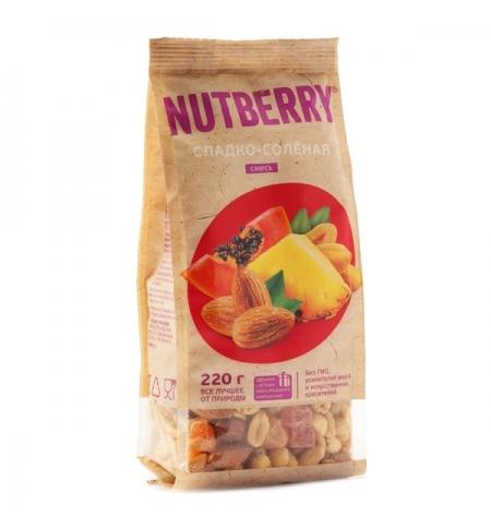фото: Смесь орехов и сухофруктов Nutberry сладко-соленая, 220г