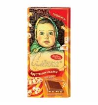 Шоколад Красный Октябрь Аленка Хрустящая сказка, с поп-корном и взрывной карамелью, 100г