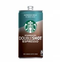 Холодный кофе Starbucks Doubleshot Espresso, 2.6%, молочный стерилизованный, без сахара, 200мл
