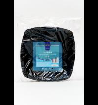 Тарелка одноразовая Horeca черная, глубокая, 18х18см, 6шт/уп