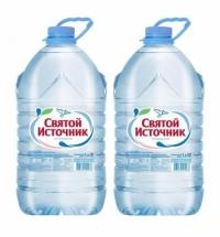 Вода питьевая Святой Источник без газа, 5л, ПЭТ
