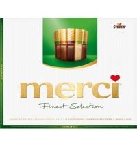 Конфеты Merci 4 вида шоколада с миндалем, 250г