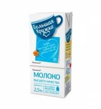 Молоко Большая Кружка 2.5%, 1л, ультрапастеризованное