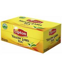 Чай Lipton Yellow Label, черный, 50 пакетиков